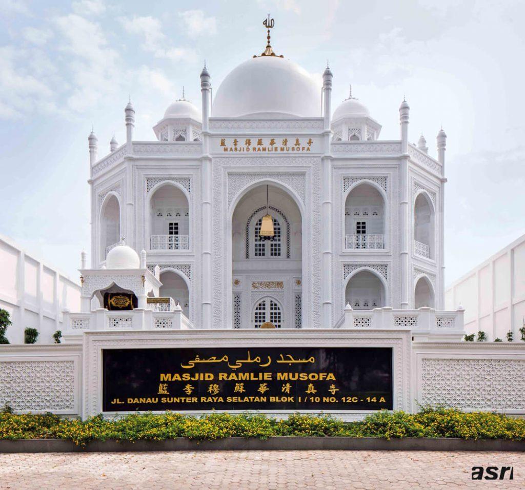 Intip Masjid bak Taj Mahal Kepunyaan Indonesia